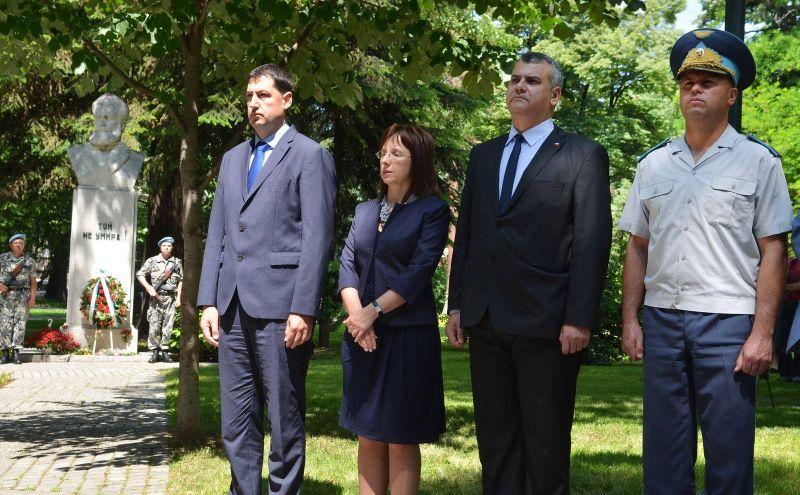 Заместник областният управител Димитър Керин се преклони пред Ботев и загиналите за свободата на България