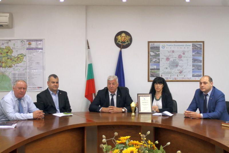 Aсоциацията на българските градове и региони връчи годишната награда Областен управител на годината за 2017-та г. на Здравко Димитров
