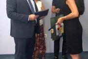 Зам. – областният управител Евелина Апостолова поздрави от името на Здравко Димитров новия председател на Административен съд – Пловдив  –  Явор Колев