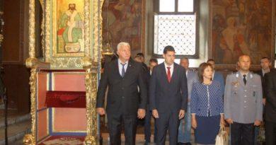 Областният управител присъства на тържествения молебен в чест на 132 години от Съединението на България