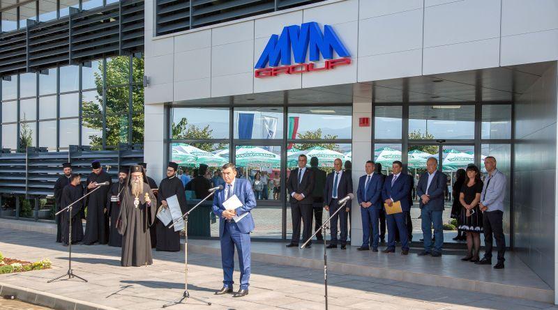 Зам.-областният управител, инж. Димитър Керин, беше официален гост на откриването на новия логистичен център Михалково