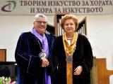 Областният управител Здравко Димитров поздрави Менда Стоянова за званието Доктор хонорис кауза