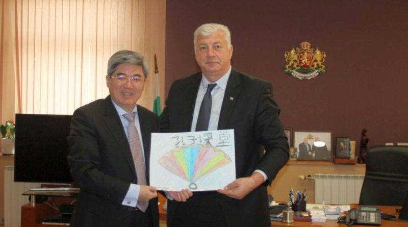 Областният управител Здравко Димитров се срещна с Н. Пр. Джан Хайджоу, посланик на Китайската народна република в Република България