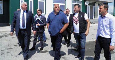 Министър-председателят Бойко Борисов инспектира ремонтно-строителните дейности по проектите от Трасевропейската транспортна мрежа