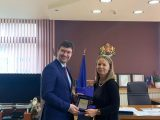 Посланикът на Република Чехия в България Лукаш Кауцки се срещна с областния управител Дани Каназирева