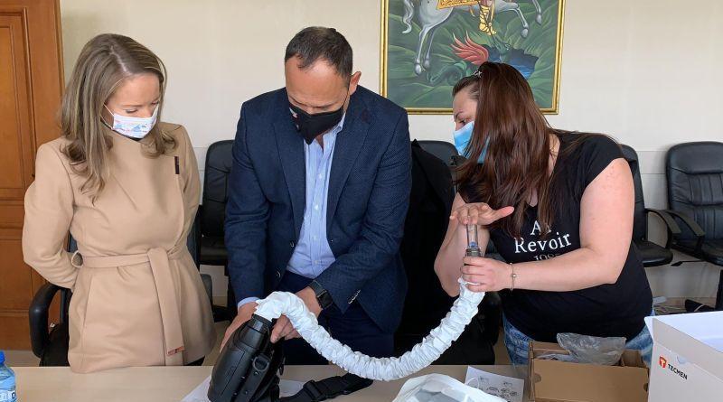 """Пречистващи въздуха апарати за лично предпазване на медиците получи  УМБАЛ """"Свети Георги"""""""