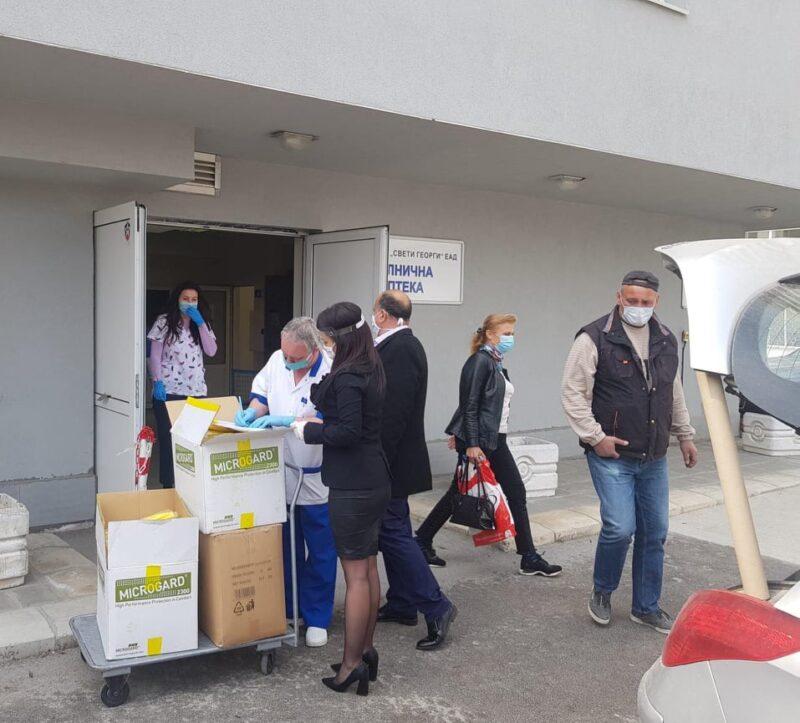 Поредно дарение за пловдивските болници от Областния кризисен щаб