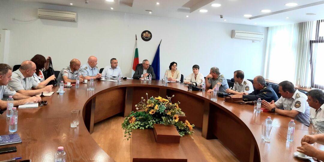 Среща на областния управител с РДПБЗН Пловдив