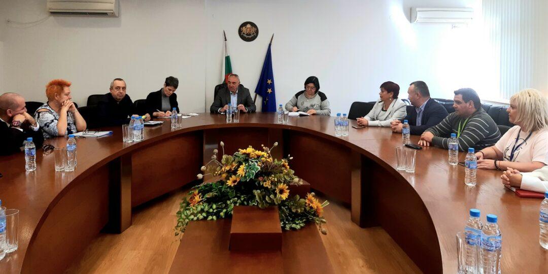 Съвместната среща между ръководството на областна управа с целия състав на 17 РИК